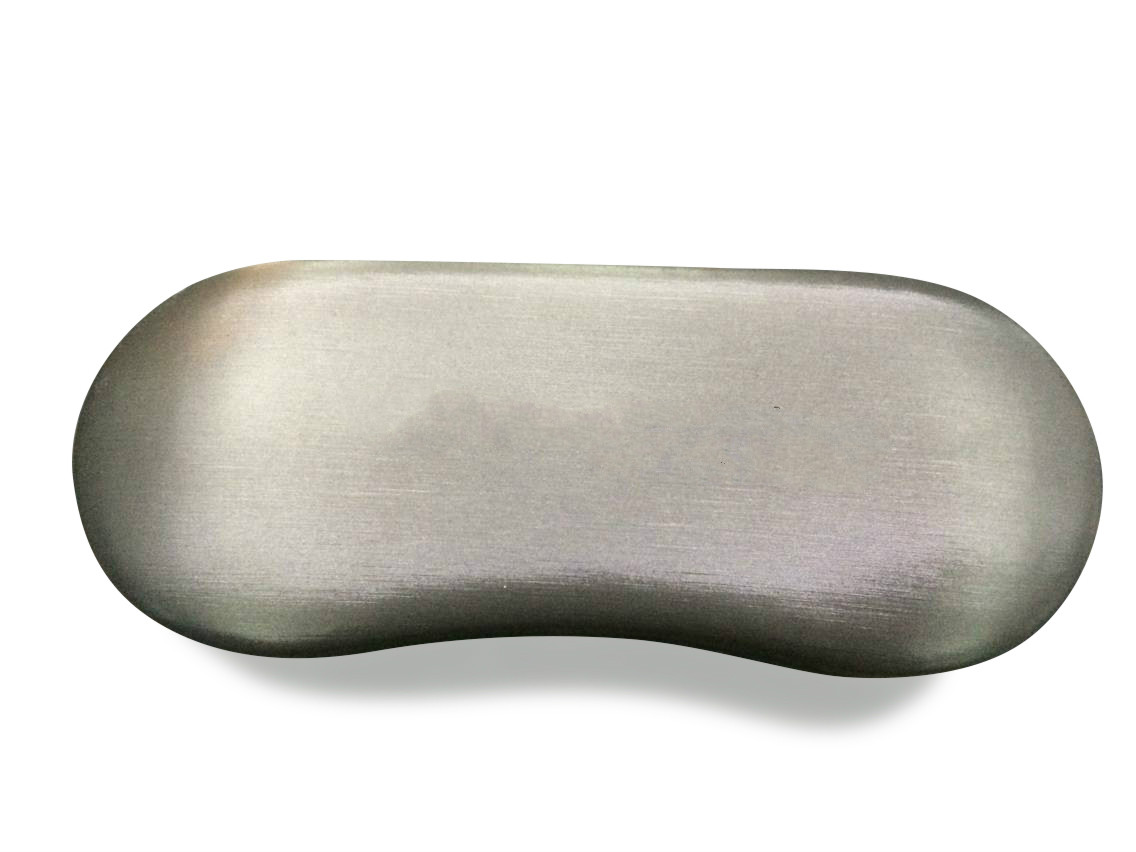 metal eyeglasses case covered silk leather